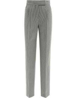 ALEXANDER WANG HOUNDSTOOTH TROUSERS 4 Black, White Wool
