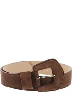 B LOW THE BELT BRET SUEDE BELT XS Brown Leather