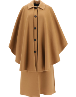MSGM COAT WITH CAPE 38 Beige Wool