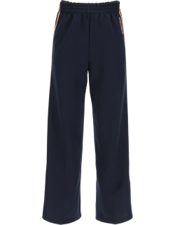 SEE BY CHLOE JOGGER PANTS WITH SIDE BANDS XS Blue
