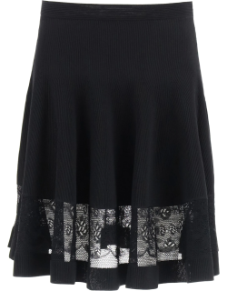 ALEXANDER MCQUEEN MINI SKIRT WITH LACE S Black