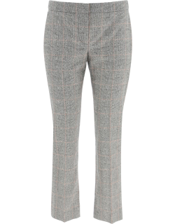 ALEXANDER MCQUEEN PRINCE OF WALES TROUSERS 40 Black, Pink, White Wool