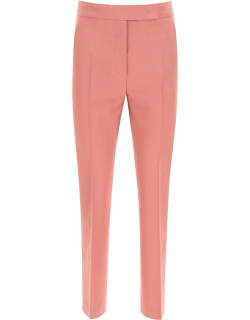 MAX MARA TEMPO TROUSERS IN MOHAIR WOOL 40 Pink Wool