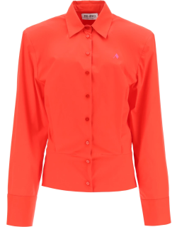 THE ATTICO COTTON SHIRT WITH SHOULDER PADS 40 Red Cotton