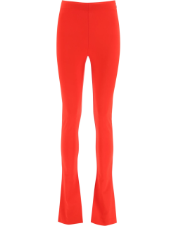 THE ATTICO STRETCH FLARED TROUSERS 40 Red