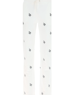 RED VALENTINO SWEATPANTS WITH EMBROIDERIES XS White, Black Cotton