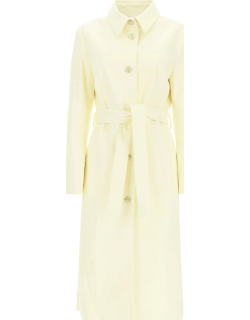 DROME TRENCH RAINCOAT IN CROCODILE PRINT LEATHER S Yellow Leather