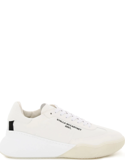 STELLA McCARTNEY LOOP SNEAKERS LOGO 39 White Faux leather, Technical