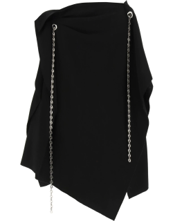 GIVENCHY ASYMMETRIC SKIRT WITH CHAIN 36 Black