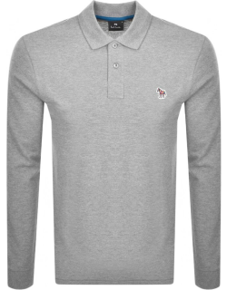 PS By Paul Smith Long Sleeved Polo T Shirt Grey