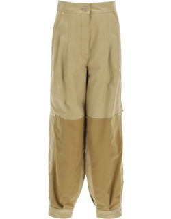 LOEWE CARGO TROUSERS WITH PLEATS 34 Beige Cotton