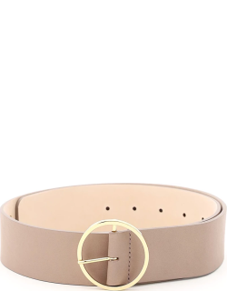 B LOW THE BELT MOLLY LEATHER BELT XS Brown, Pink Leather