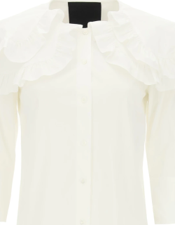 RED VALENTINO SHIRT WITH MAXI PETER PAN COLLAR 44 White Cotton