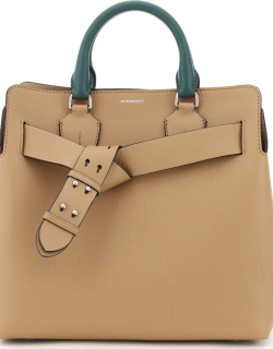 BURBERRY THE BELT MEDIUM TOTE BAG OS Beige, Green, White Leather