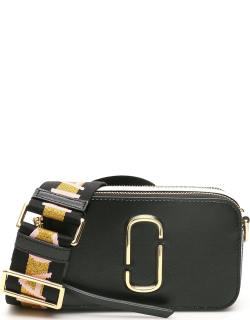 MARC JACOBS (THE) THE SNAPSHOT SMALL CAMERA BAG OS Black, Grey, White Leather