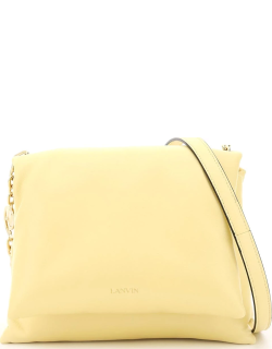 LANVIN SUGAR SMALL PADDED SHOULDER BAG OS Yellow Leather