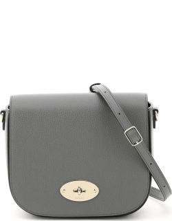 MULBERRY SMALL DARLEY SATCHEL BAG OS Grey Leather