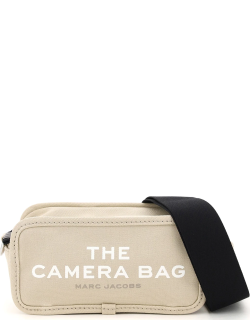 MARC JACOBS (THE) THE CAMERA BAG SMALL OS Beige, White, Grey Cotton