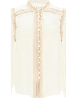 ZIMMERMANN SHIRT WITH TRIMMINGS 1 White, Beige