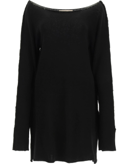 MARNI RECYCLED CASHMERE DRESS 42 Black Cashmere, Wool