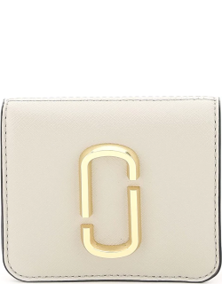 MARC JACOBS (THE) SNAPSHOT MINI WALLET WITH COIN POCKET OS Beige, Grey, Pink Leather