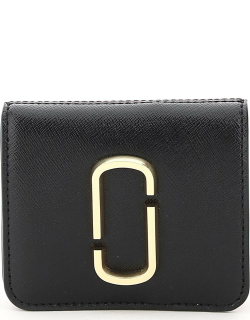 MARC JACOBS (THE) SNAPSHOT MINI WALLET WITH COIN POCKET OS Brown, Red, Black Leather