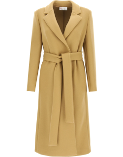 RED VALENTINO WOOL AND CASHMERE COAT 40 Brown Wool, Cashmere
