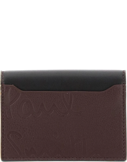 PAUL SMITH MULTI POCKETS CREDIT CARD HOLDER OS Brown Leather