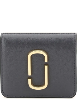 MARC JACOBS (THE) SNAPSHOT MINI WALLET WITH COIN POCKET OS Grey Leather