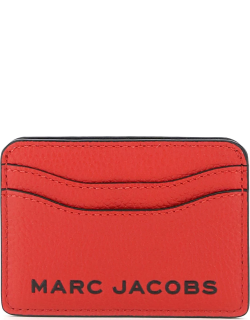 MARC JACOBS (THE) THE BOLD CARD HOLDER OS Red, Black Leather