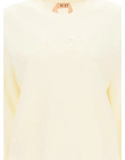 N.21 PULLOVER WITH LOGO 38 White Wool