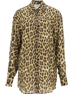 SPORTMAX LEOPARD-PRINTED SHIRT 38 Beige, Brown Synthetic