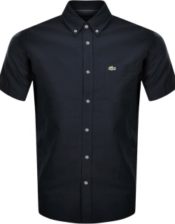 Lacoste Oxford Short Sleeved Shirt Navy