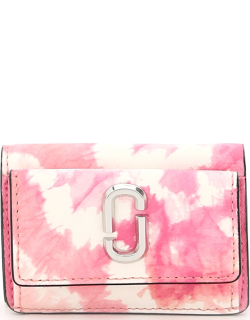 MARC JACOBS (THE) THE SNAPSHOT MINI WALLET OS White, Pink Leather