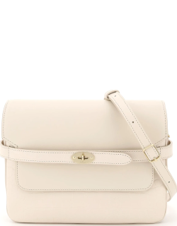 MULBERRY BELTED BAYSWATER ACCORDION BAG OS Beige Leather
