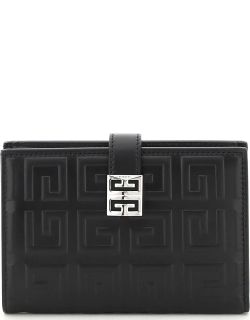 GIVENCHY 4G BIFOLD WALLET OS Black Leather