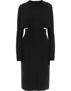 GIVENCHY LONG SLEEVES DRESS WITH CUT OUT DETAILS S Black Technical