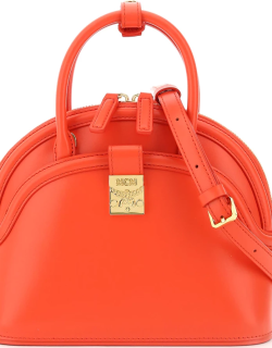 MCM ANNA SMALL BAG OS Red Leather