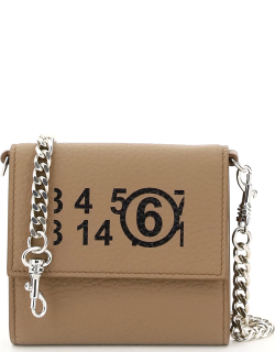 MM6 MAISON MARGIELA WALLET WITH CHAIN OS Brown Leather