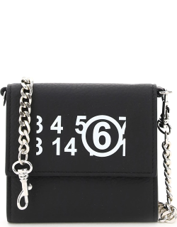 MM6 MAISON MARGIELA WALLET WITH CHAIN OS Black Leather