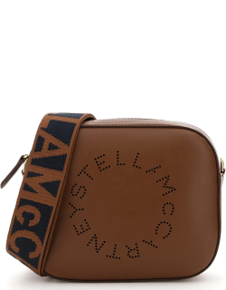STELLA McCARTNEY CAMERA BAG WITH PERFORATED STELLA LOGO OS Brown Faux leather