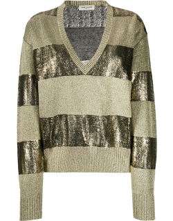 Pullover with Lamè Inserts