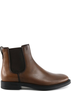 Leather Ankle boot brown