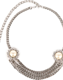 Crystal Chain Belt With Pearl And Crystal Elements