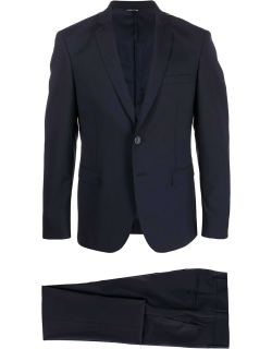 Blue stretch wool suit