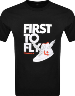 Converse First To Fly Logo T Shirt Black