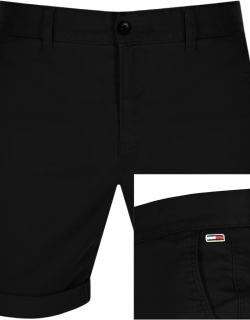 Tommy Jeans Essential Chino Shorts Black