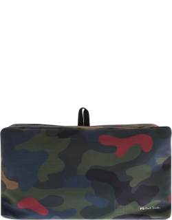 PS By Paul Smith Camo Washbag Green