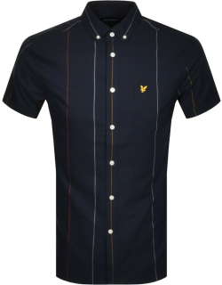 Lyle And Scott Short Sleeved Oxford Shirt Navy