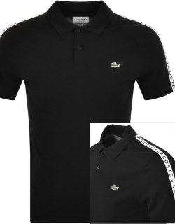Lacoste Taped Polo T Shirt Black